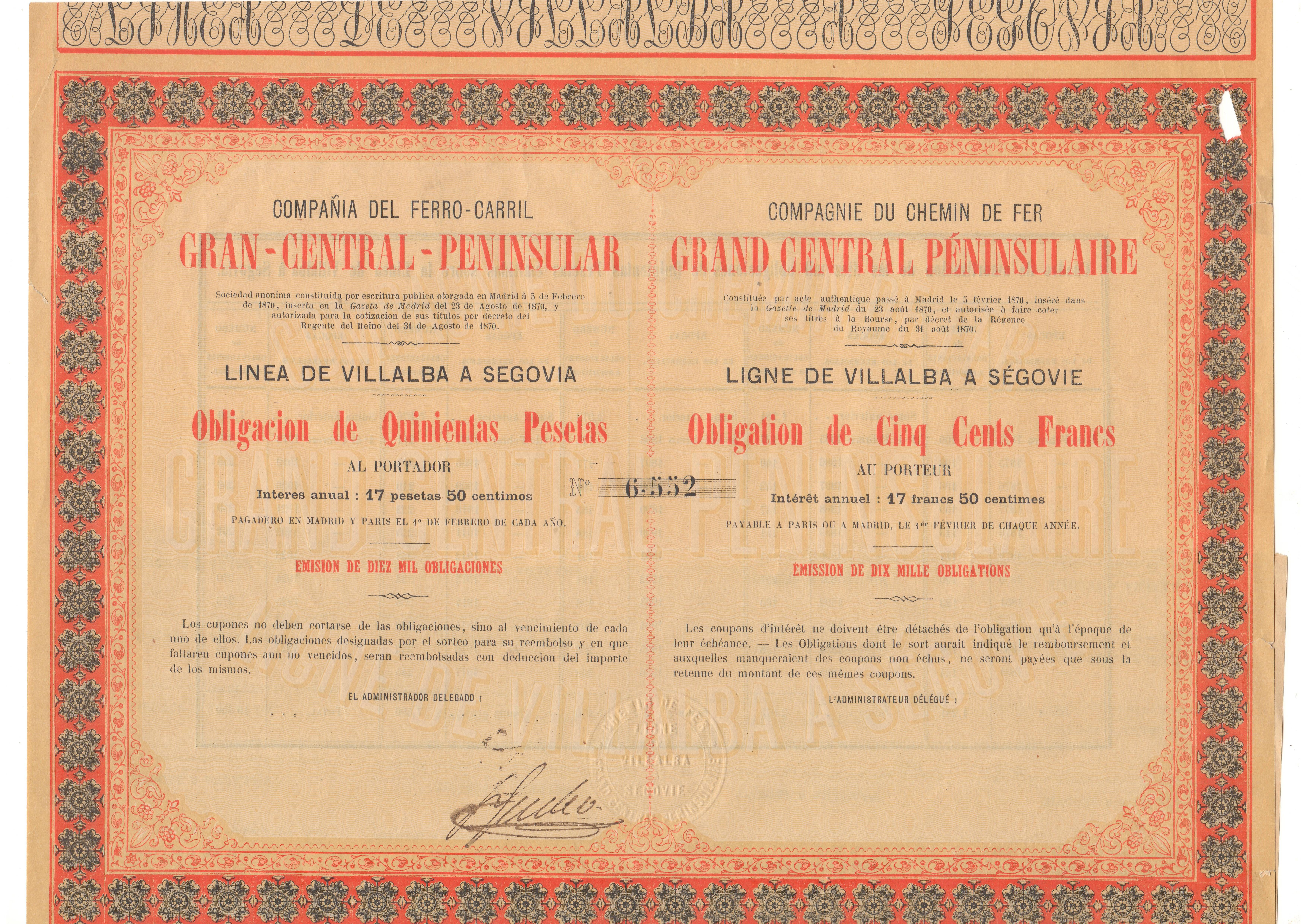 Compañía del Ferrocarril Gran Central Peninsular
