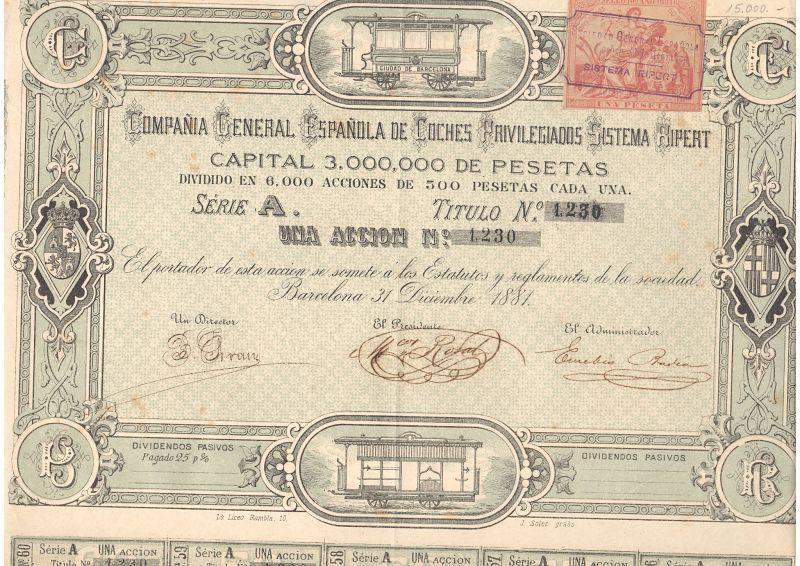Compañía General Española de Coches Privilegiados Sistema Ripert