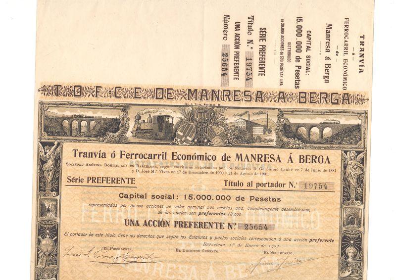 Tranvía o Ferrocarril Económico de Manresa a Berga