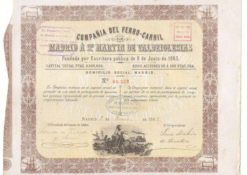 Compañía del ferro-carril Madrid a San Martín de Valdeiglesias