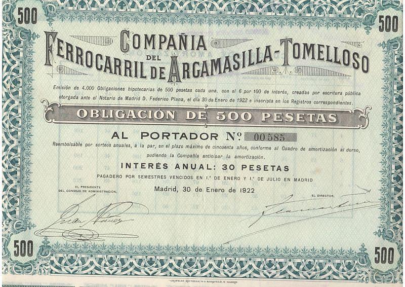 Compañía deñ Ferrocarril de Argamasilla-Tomelloso
