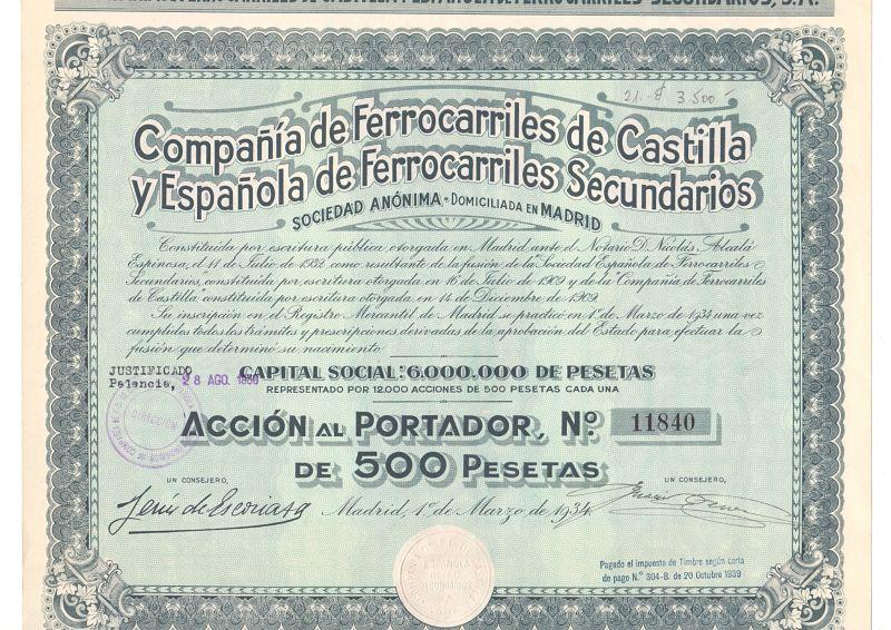 Compañía de Ferrocarriles de Castilla y Española de Ferrocarriles Secundarios