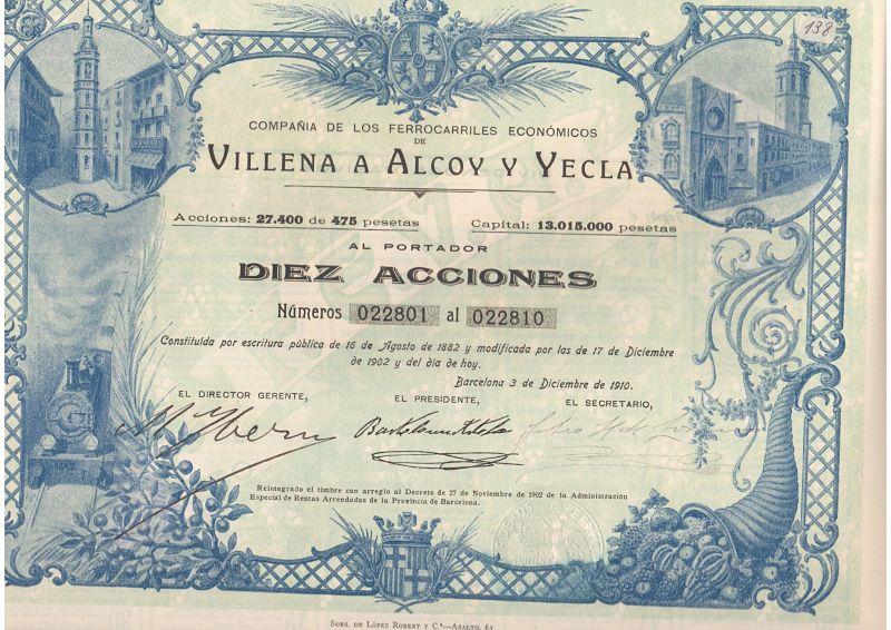 Compañía de los Ferrocarriles Económicos Villena a Alcoy y Yecla