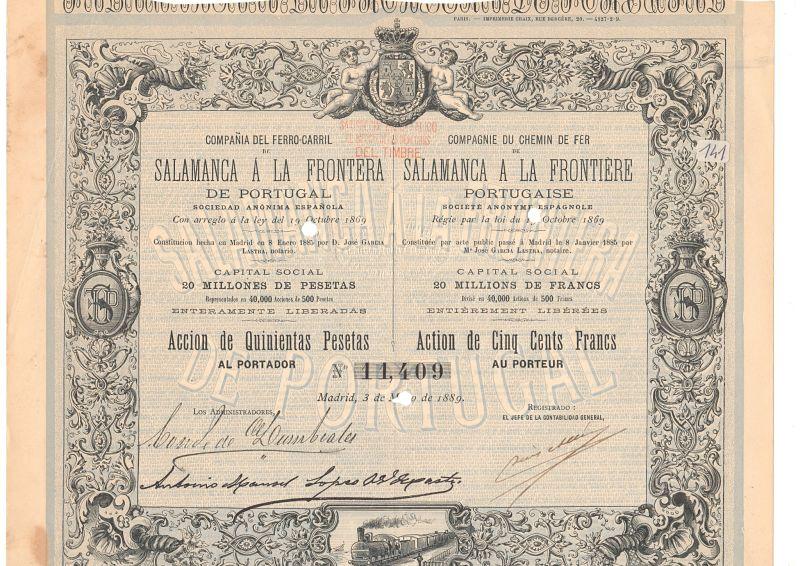 Compañía del Ferrocarril de Salamanca a la frontera de Portugal