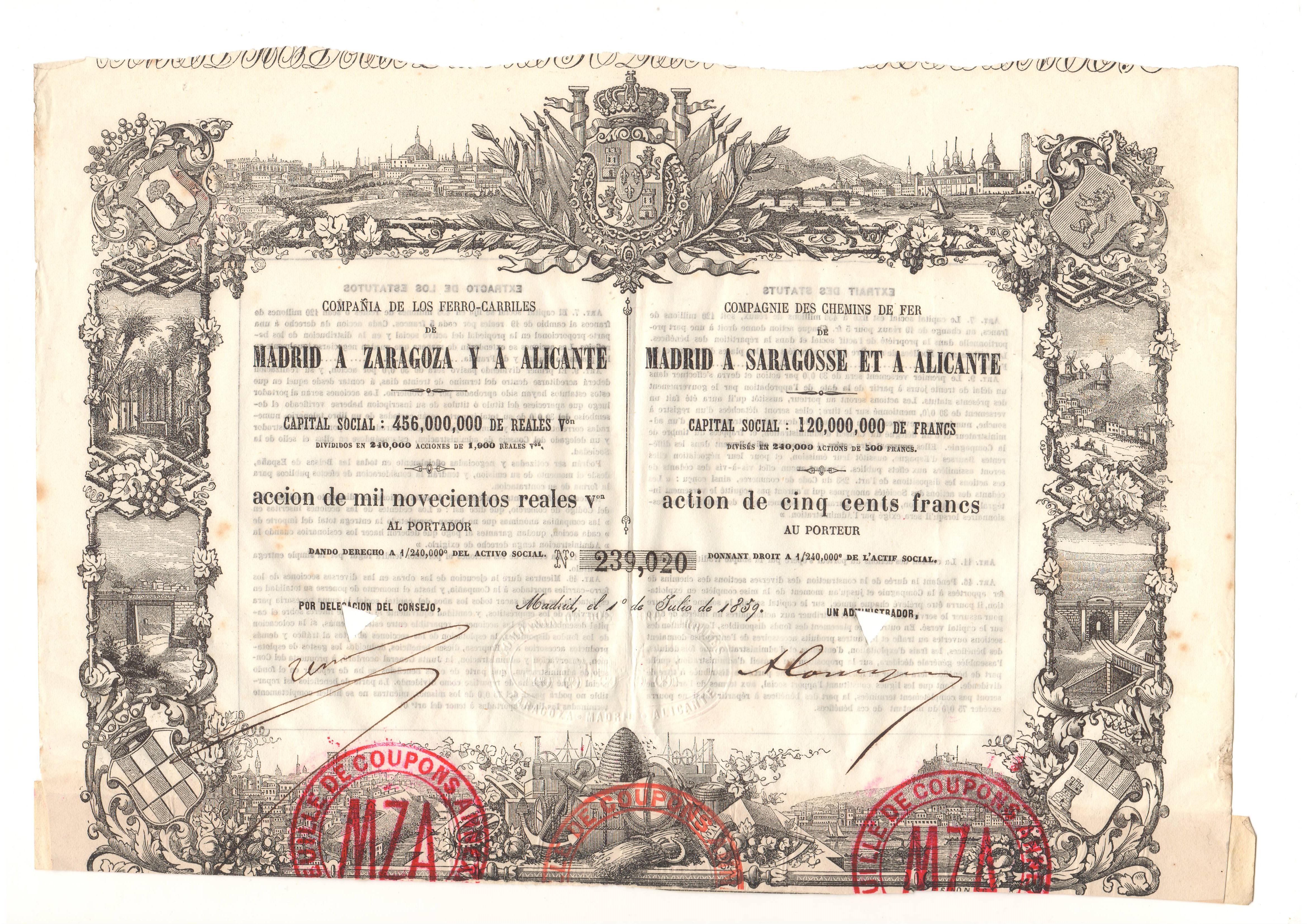 Compañía de los Ferrocarriles de Madrid a Zaragoza y a Alicante