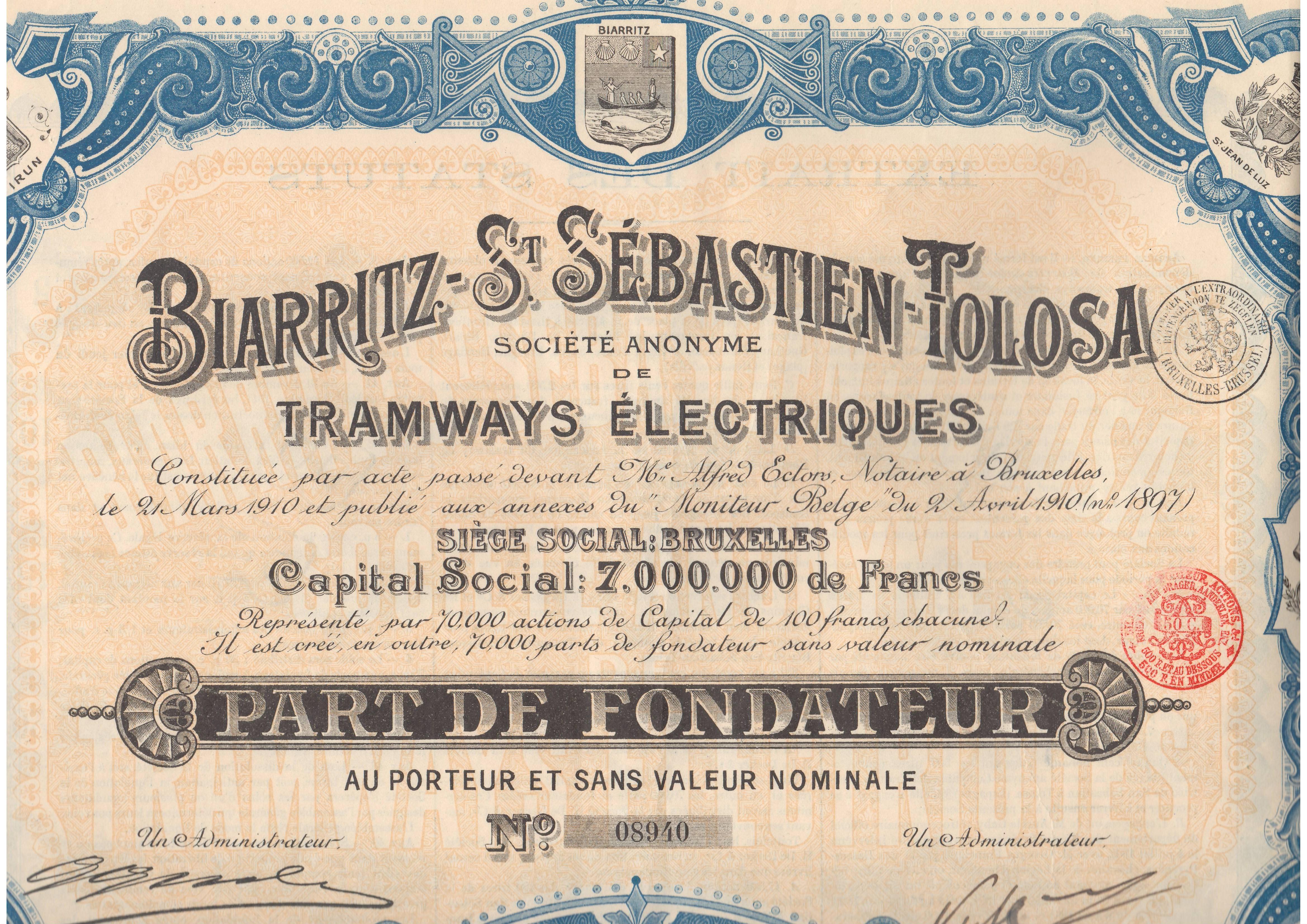 Biarritz-St. Sebastien-Tolosa Sociedad Anónima de Tranvías Eléctricos