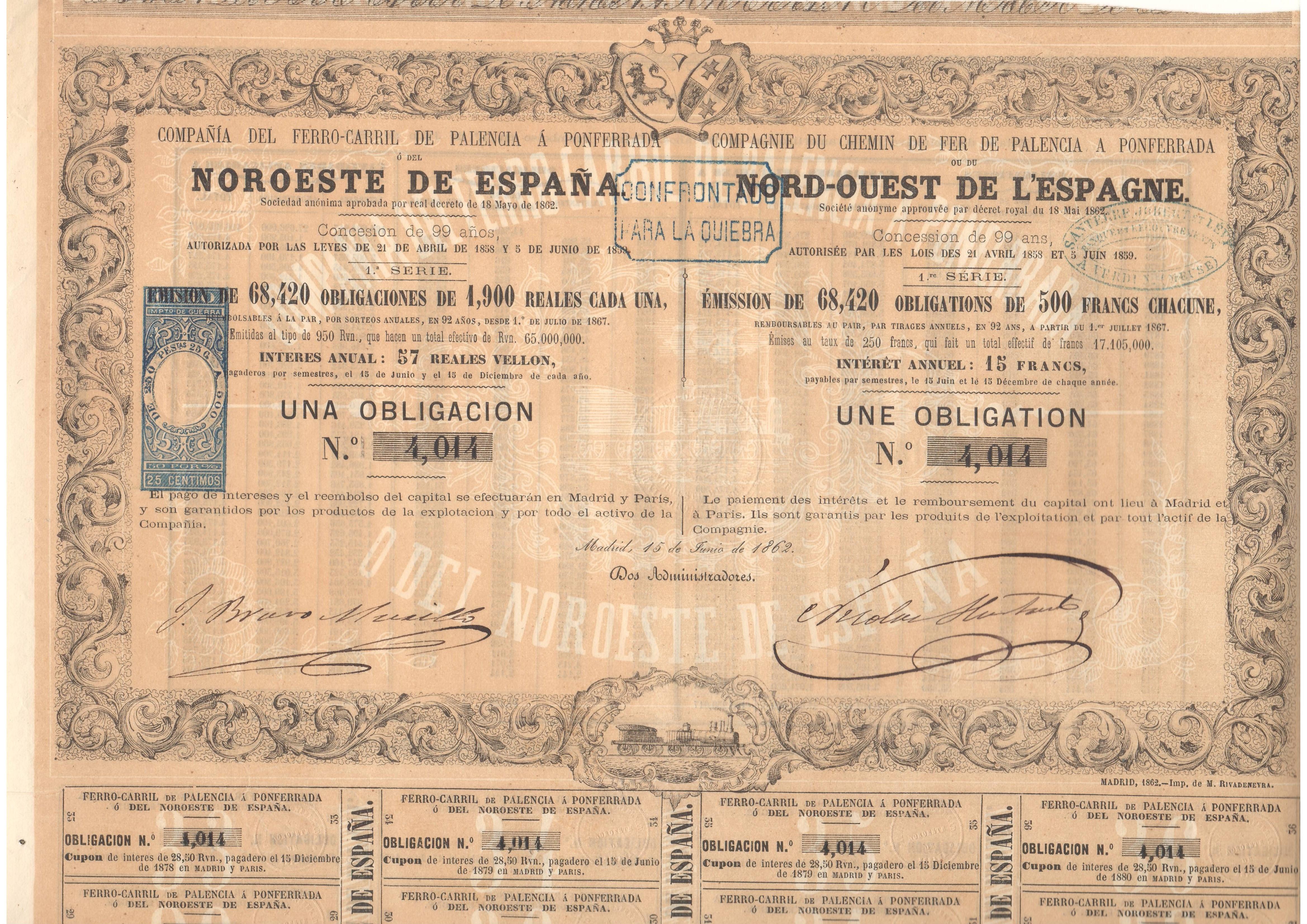 Compañía del Ferrocarril de Palencia a Ponferrada o del Noroeste de España