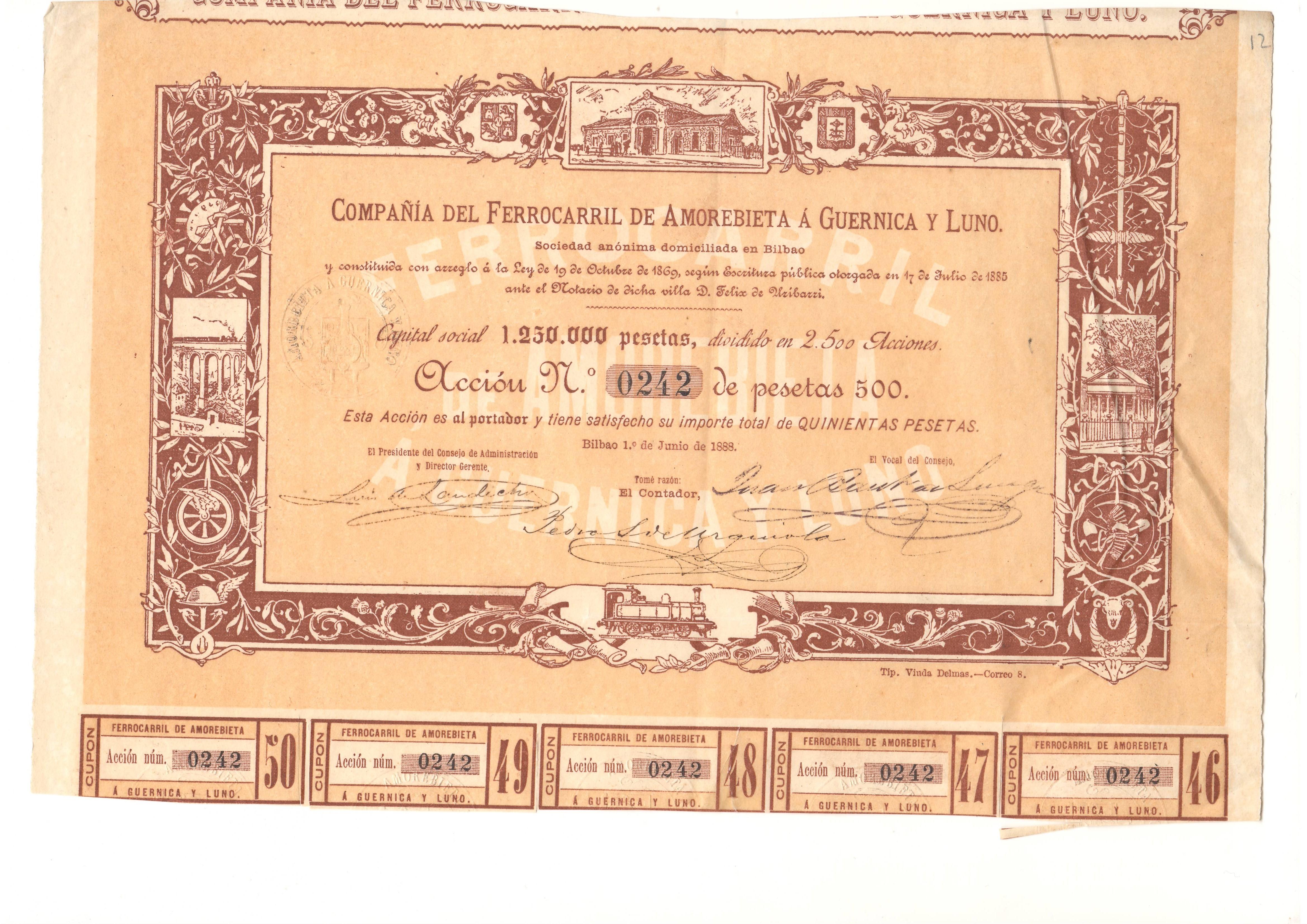 Compañía del Ferrocarril de Amorebieta a Guernica y Luno