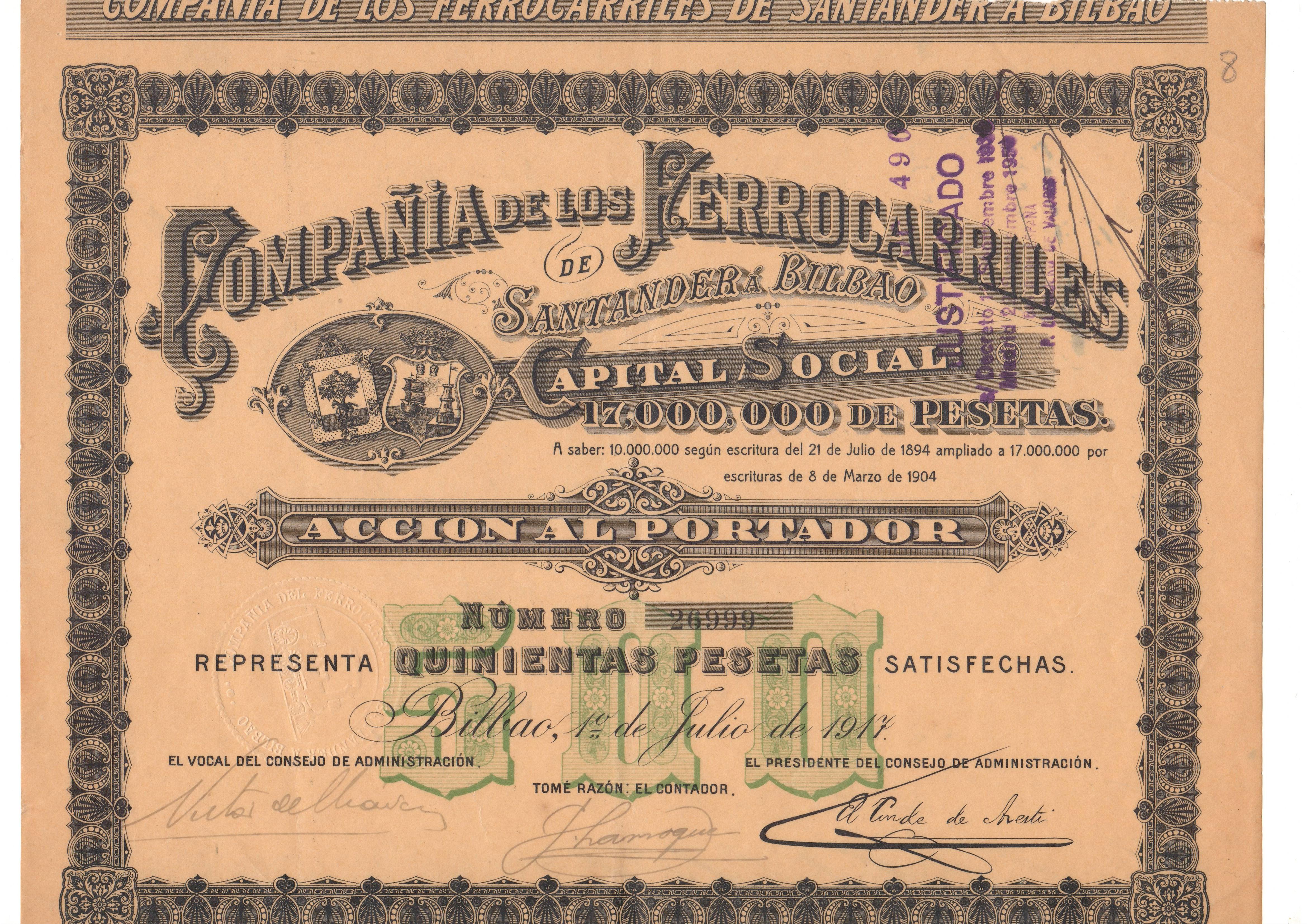 Compañía de los Ferrocarriles de Santander a Bilbao