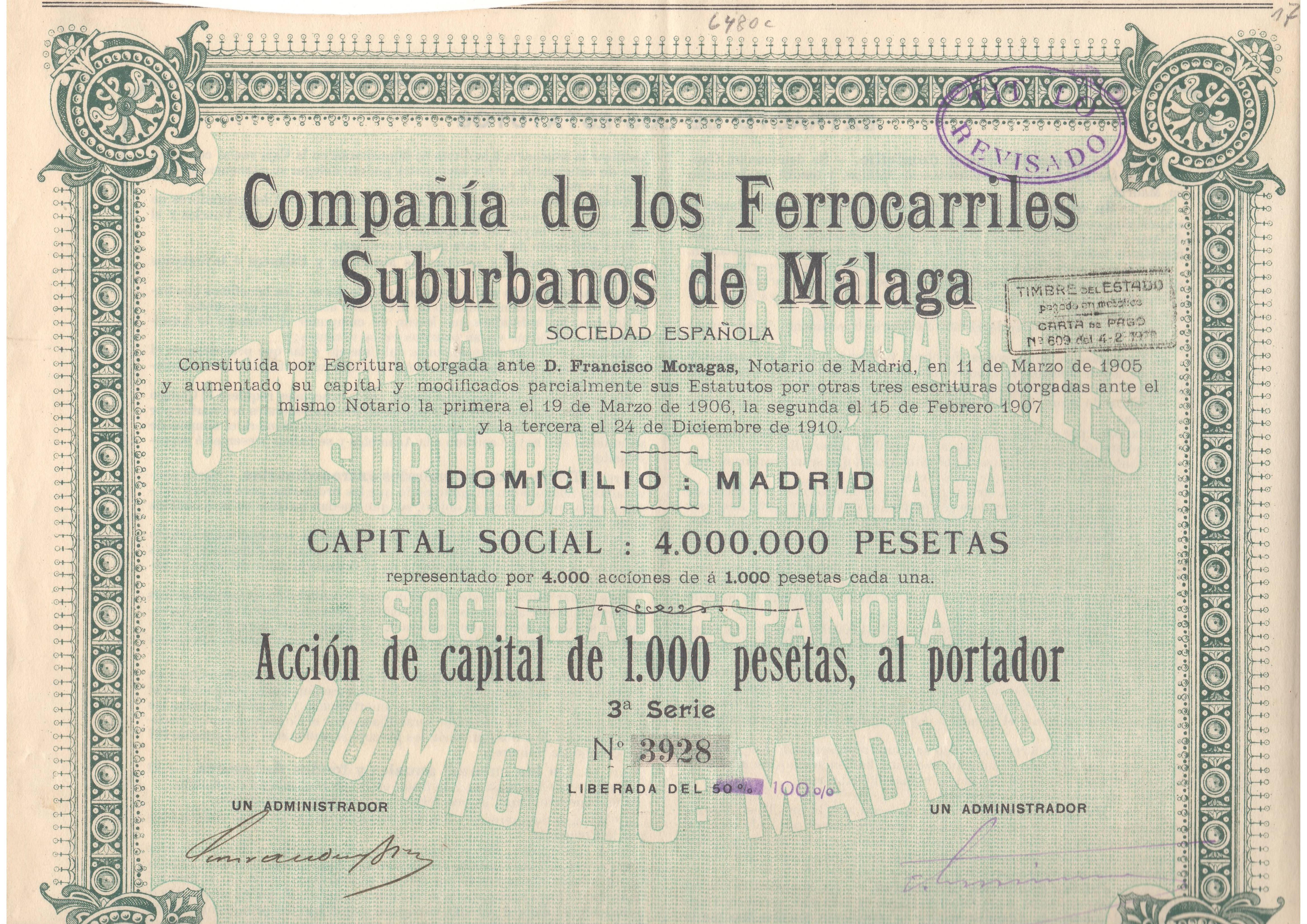 Compañía de los Ferrocarriles Suburbanos de Málaga