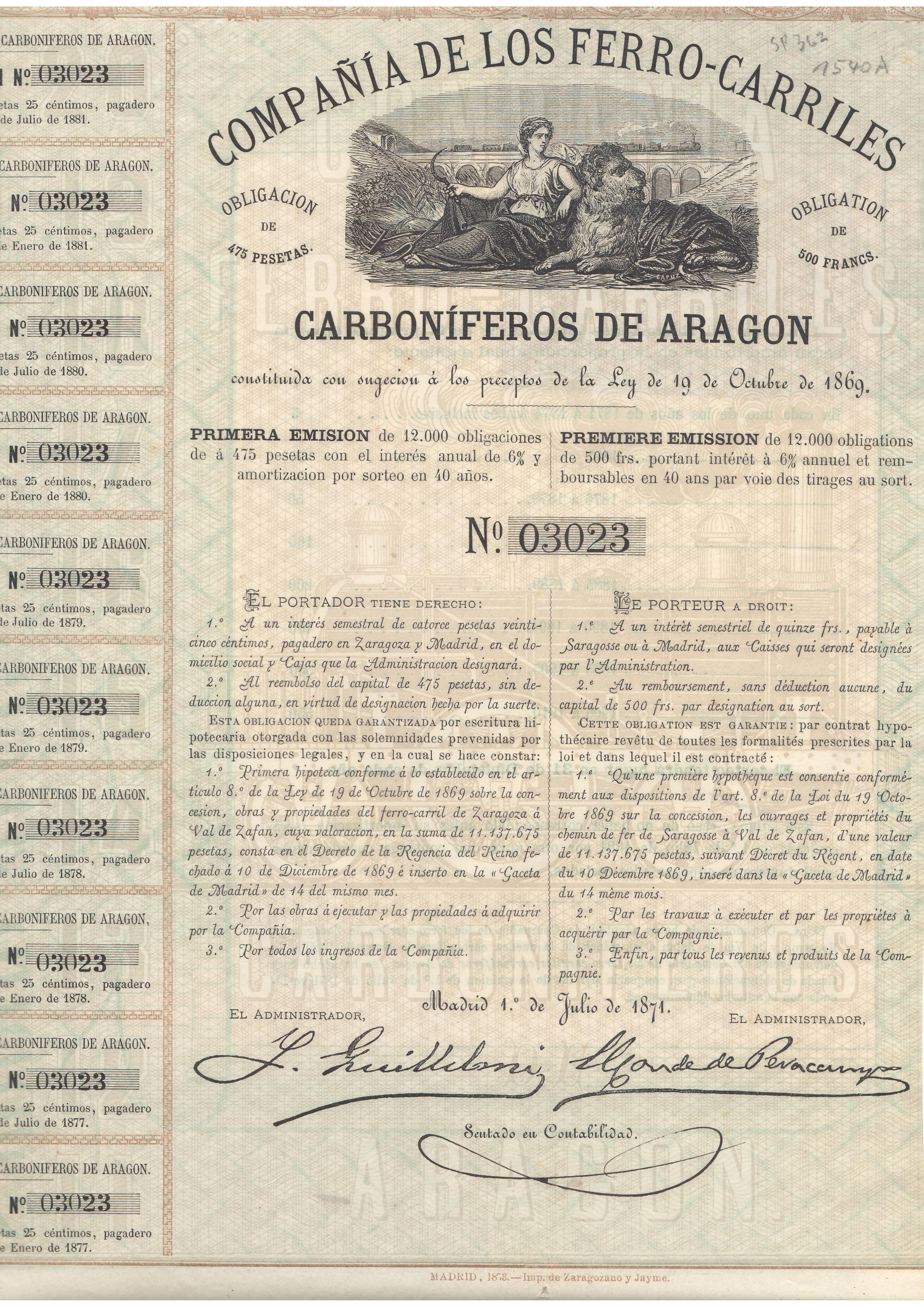 Compañía de los Ferrocarriles Carboníferos de Aragón