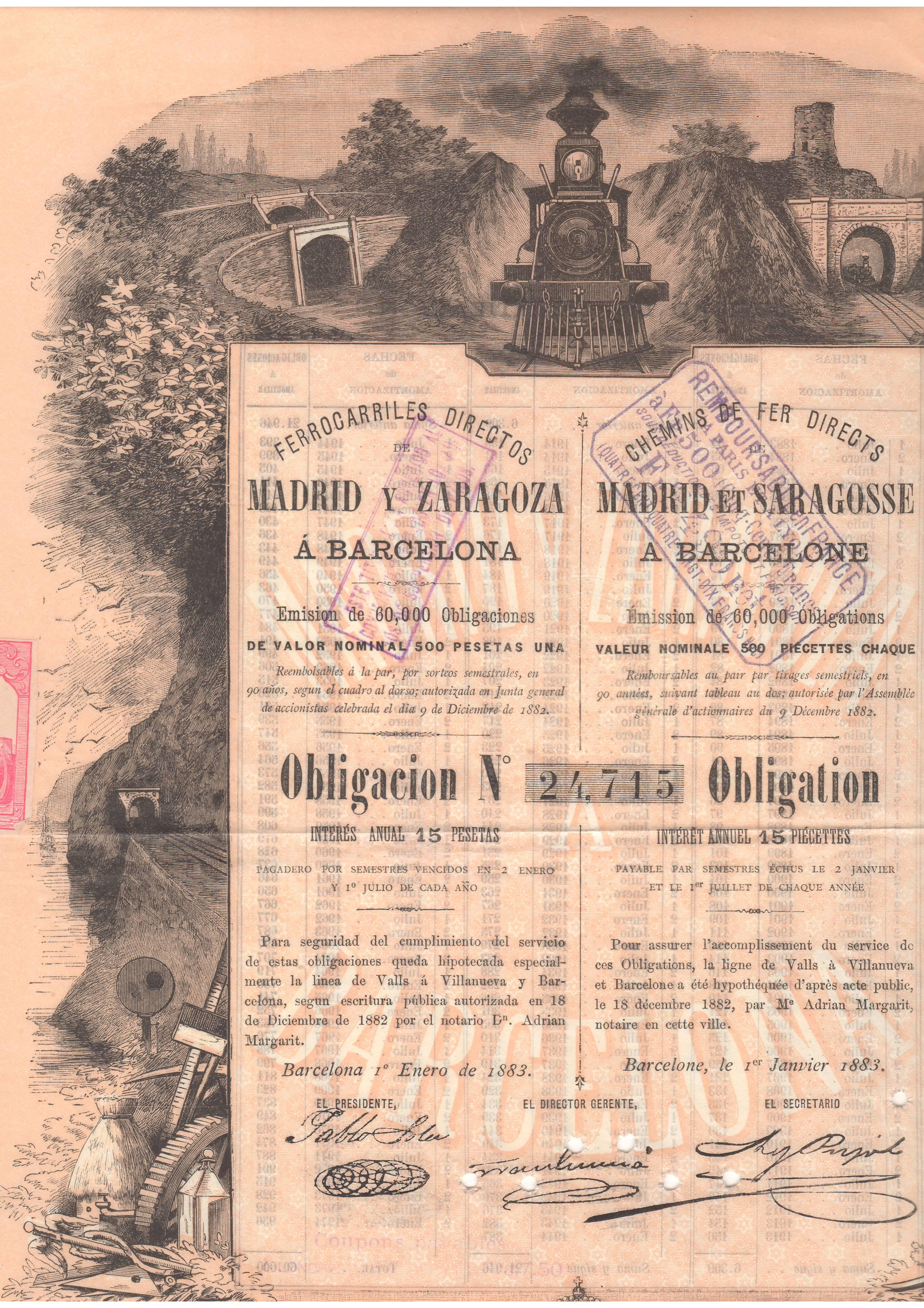 Ferrocarriles Directos de Madrid y Zaragoza a Barcelona
