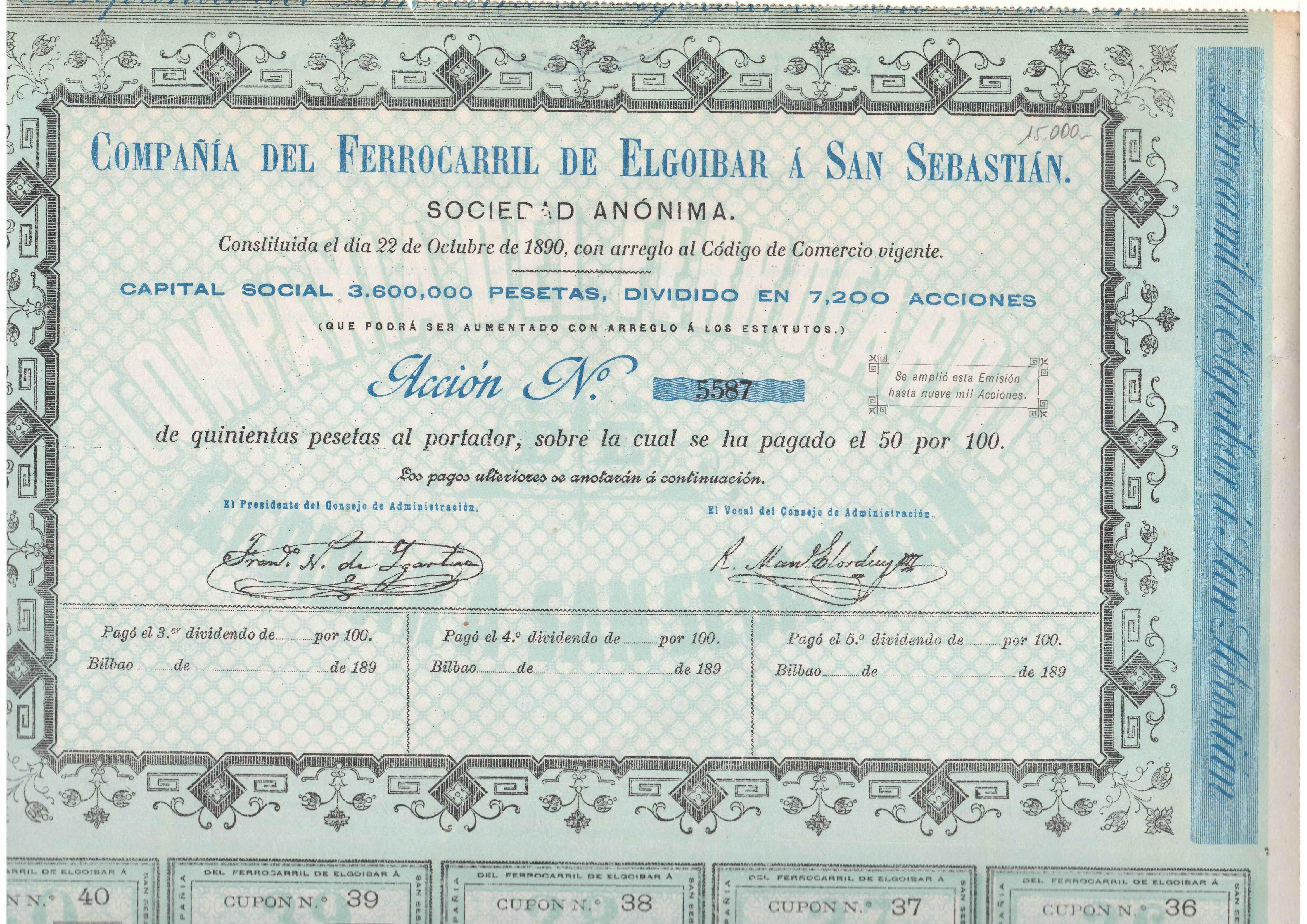 Compañía del Ferrocarril de Elgoibar a San Sebastián