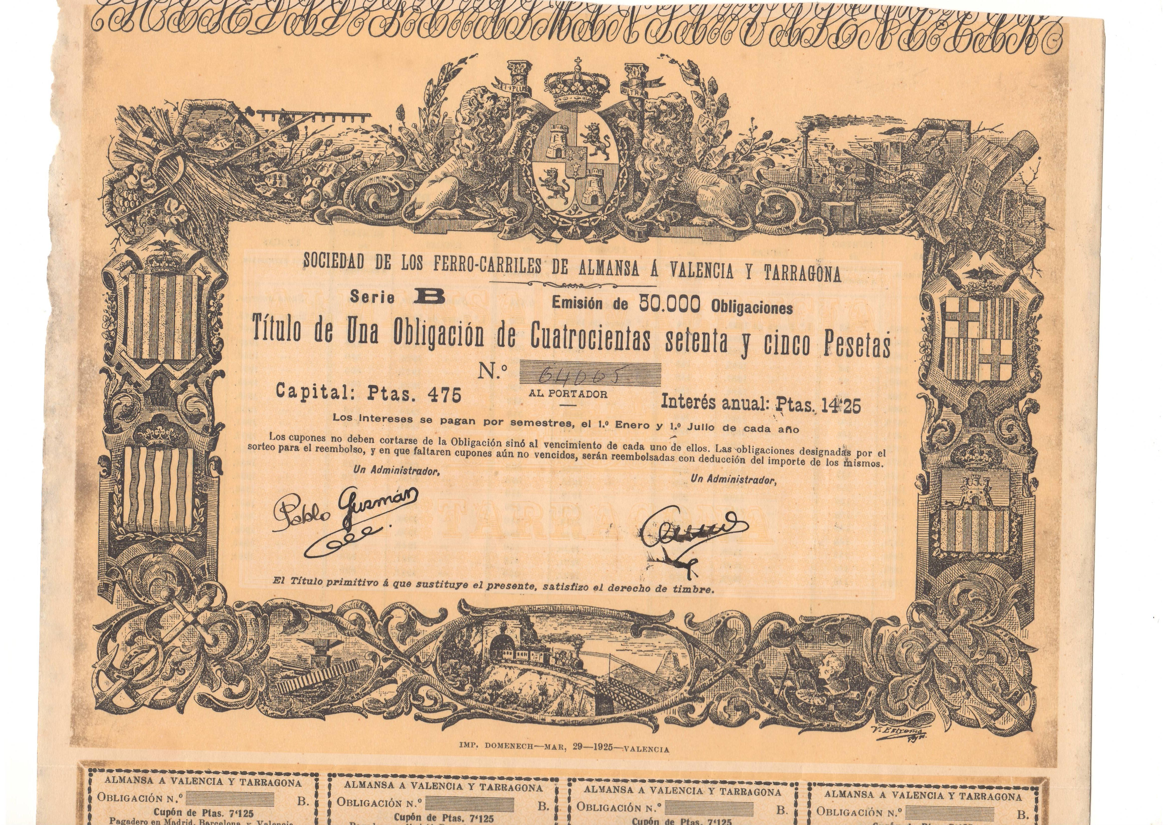 Sociedad de los Ferrocarriles de Almansa a Valencia y Tarragona