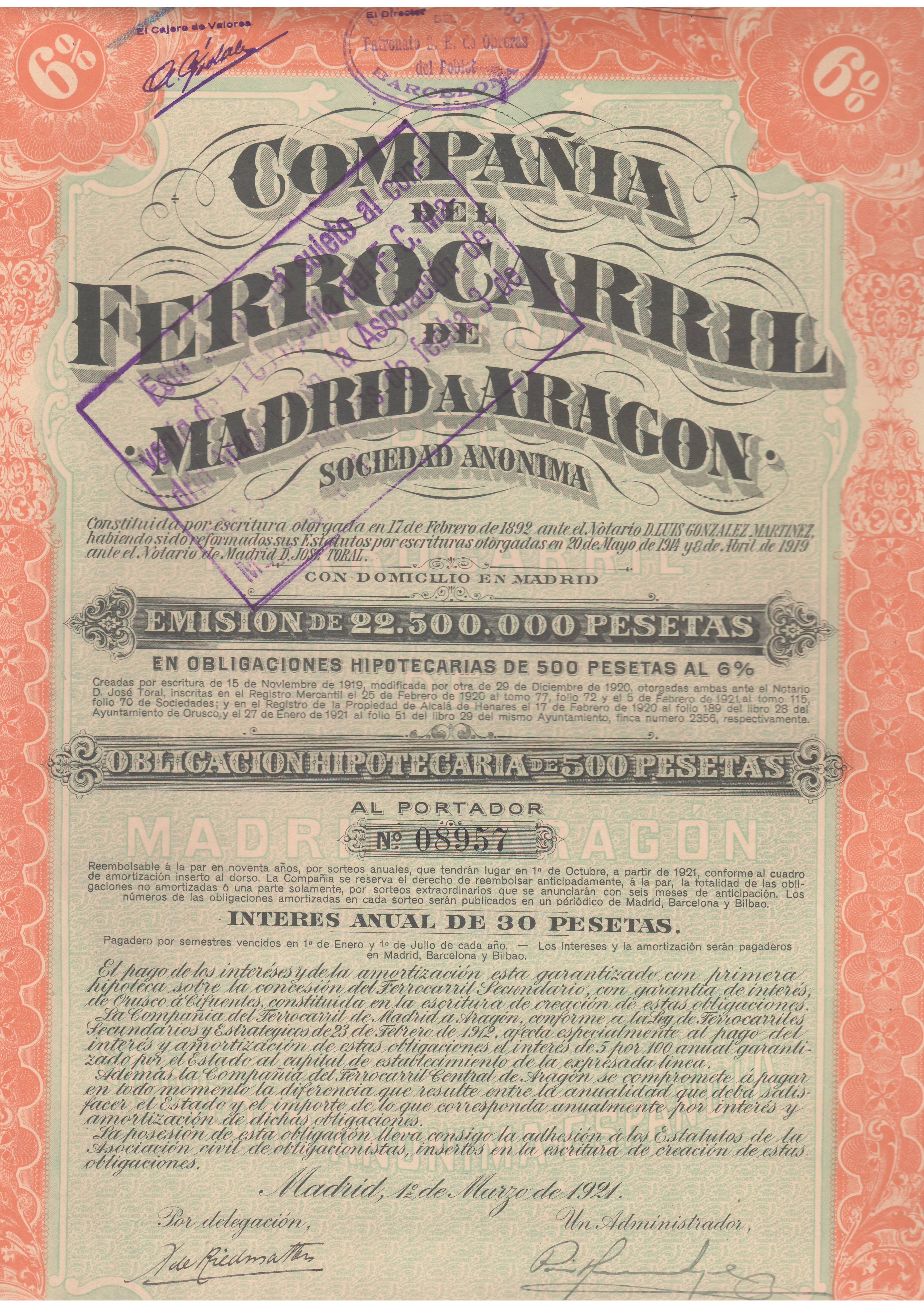 Compañía del Ferrocarril de Madrid a Aragón