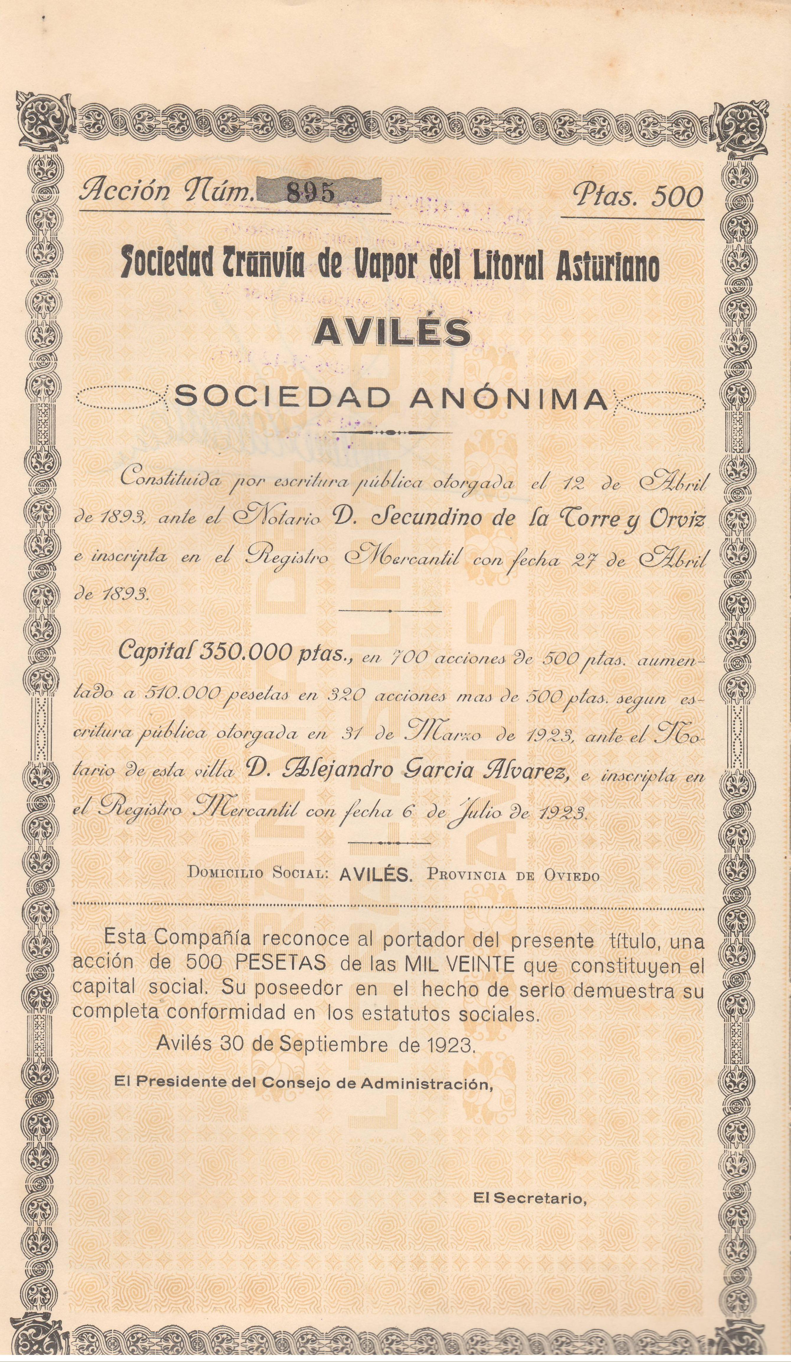 Sociedad Tranvía de Vapor del Litoral Asturiano