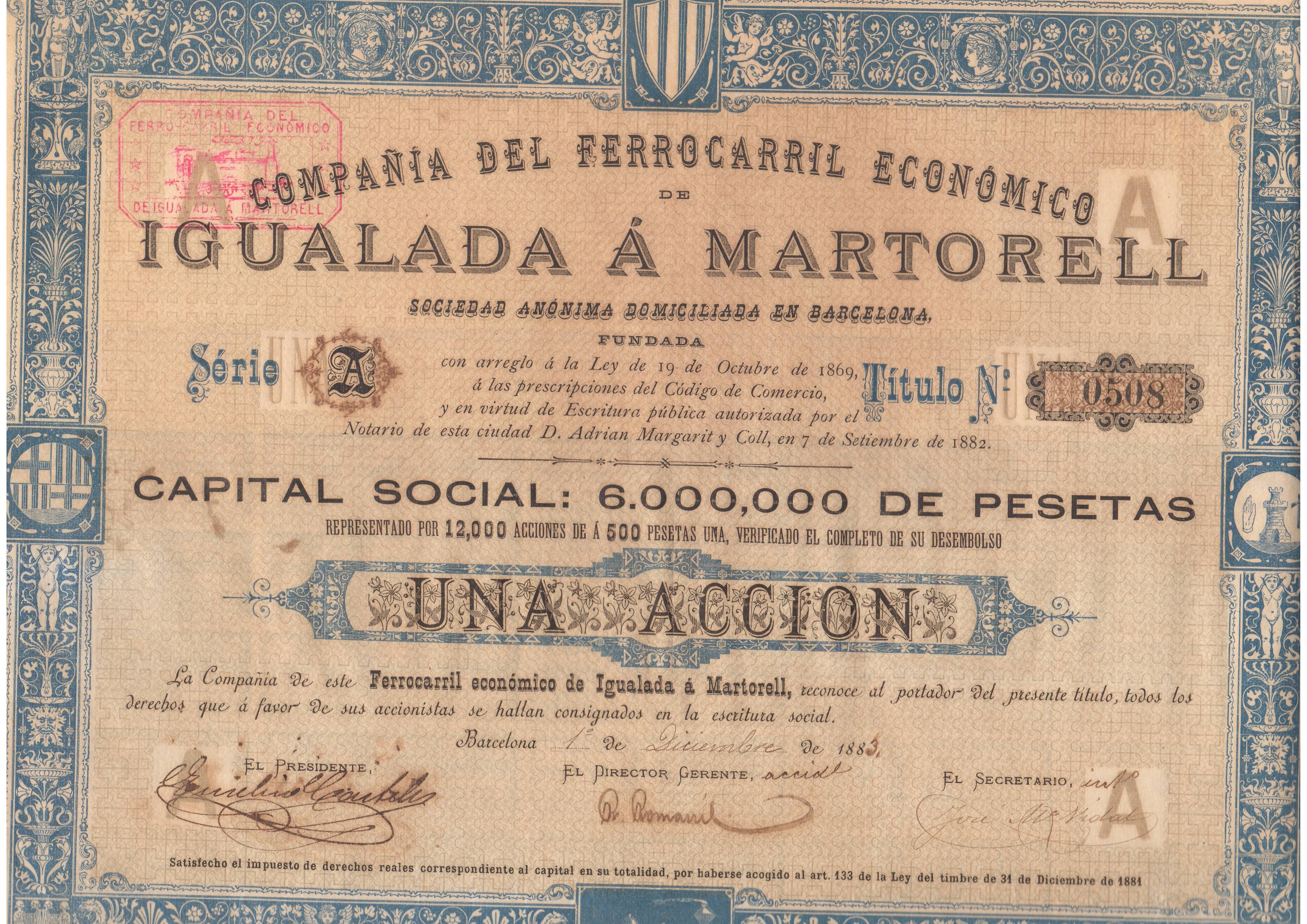 Compañía del Ferrocarril Económico de Igualada a Martorell