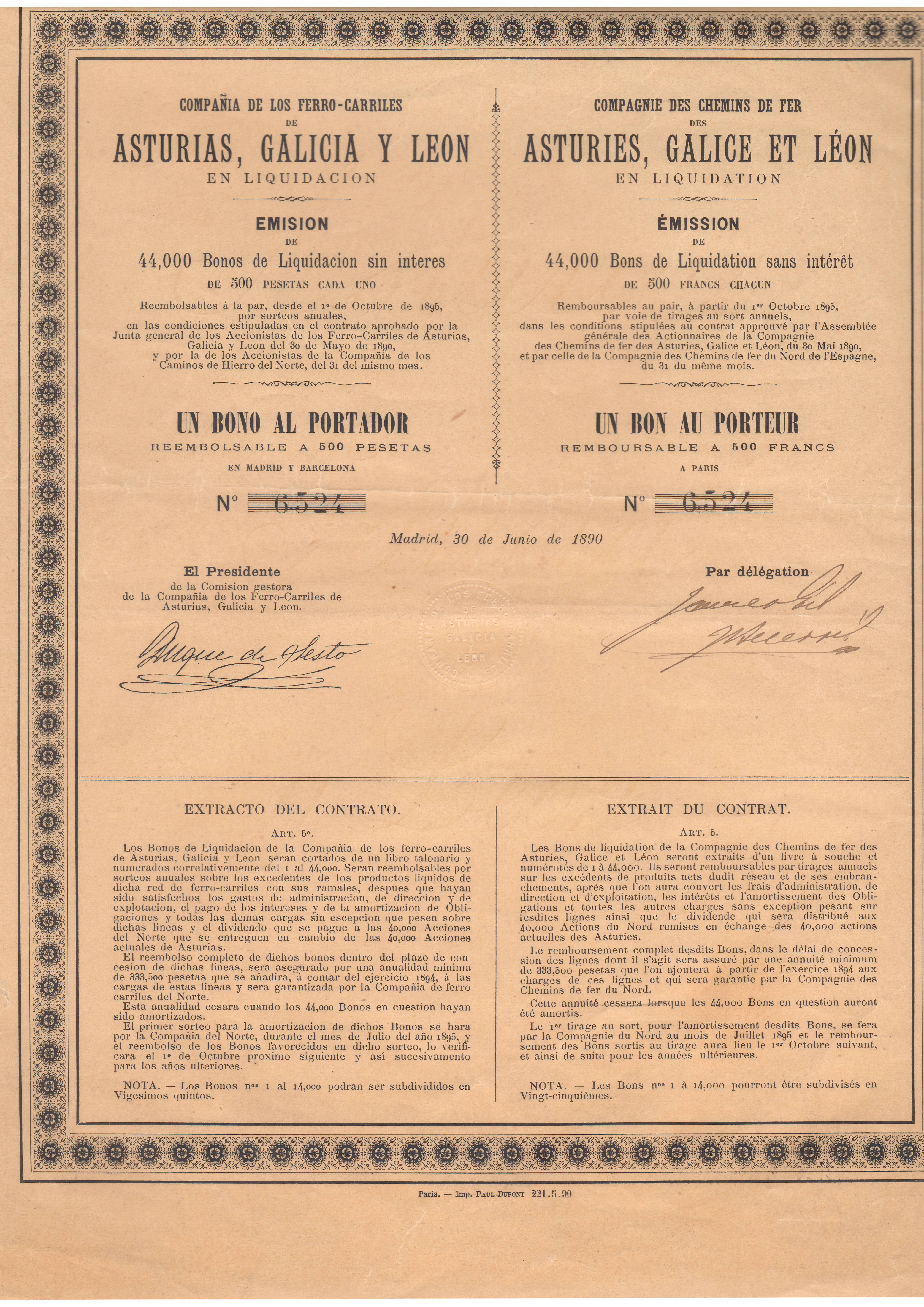 Compañía de los Ferrocarriles de Asturias, Galicia y León en liquidación